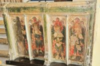 Hitcham, All Saints Church, Rood screen base