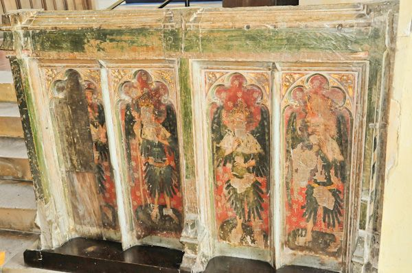 Hitcham, All Saints Church photo, Rood screen base