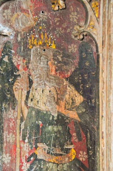 Hitcham, All Saints Church photo, Rood screen panel