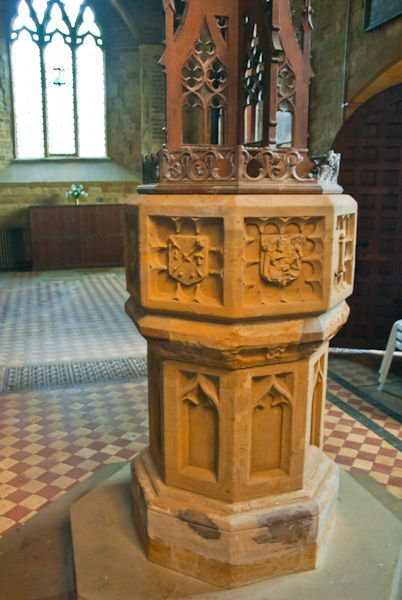 Holdenby, All Saints Church photo, Victorian Font