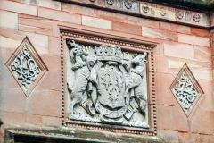 Holker Hall, Cavendish coat of arms over the entrance