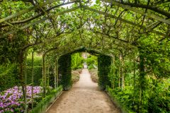 Holker Hall, A trellised garden walk