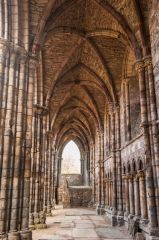 Holyrood Abbey, Looking down the vaulted aisle