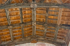 The timber roof and bosses