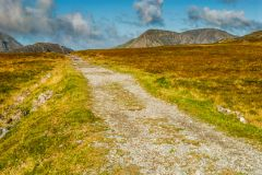 The path to Honister slate quarries
