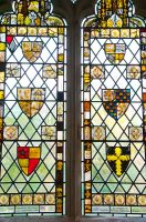Medieval stained glass fragments