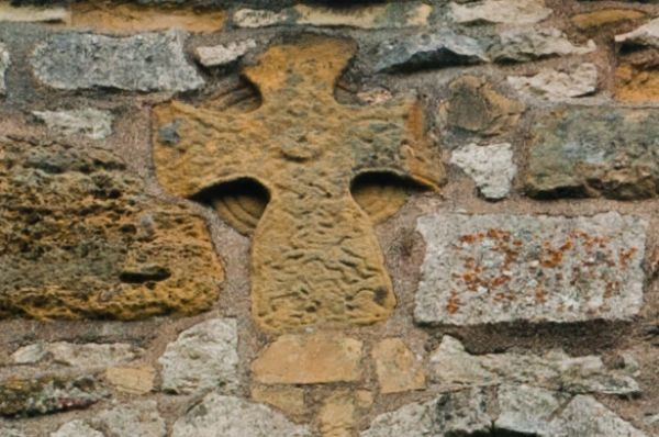 Hovingham, All Saints Church photo, Danish wheel cross