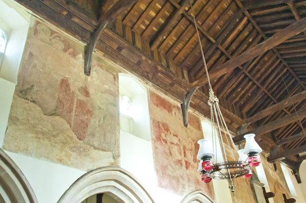 Hoxne, St Peter & St Paul Church photo, North nave wall paintings