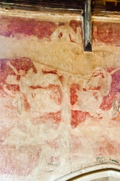 Hoxne photo, Medieval wall painting in the church