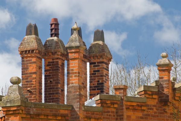 Hughenden Manor photo, Chimneys, west wing of Hughenden