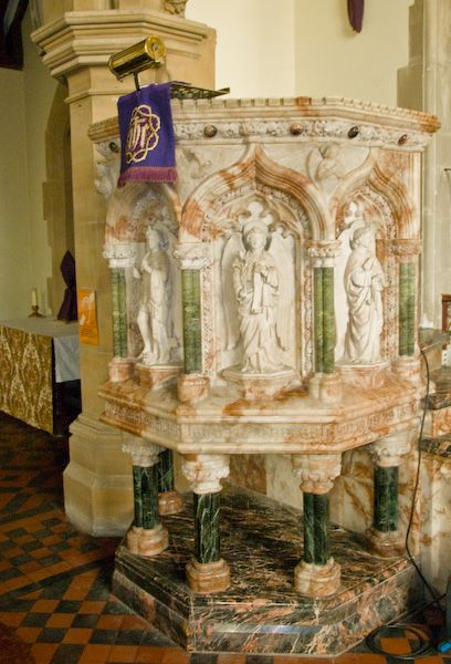 Hughenden, St Michael and All Angels photo, Victorian pulpit