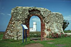 St Edmund's CHapel ruins and Old Lighthouse (c) Christine Matthews