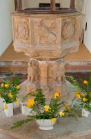 Huntingfield, St Mary's Church, Perpendicular font