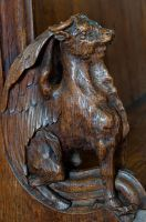 Carved bench end