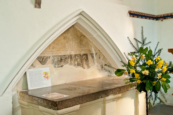 Huntingfield, St Mary's Church photo, John Paston tomb