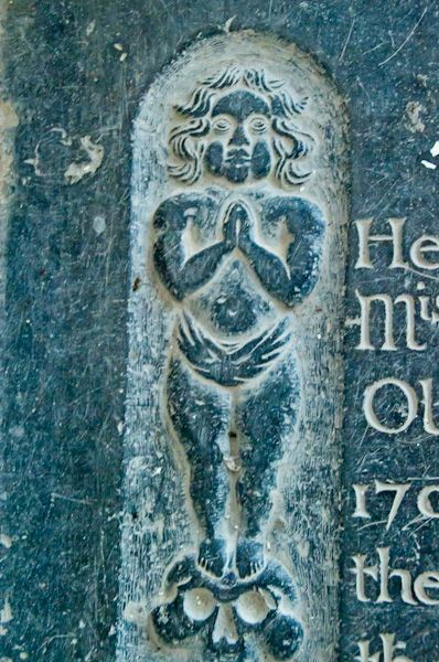 Huntingfield, St Mary's Church photo, Shute grave slab carving