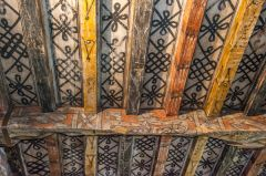 Huntingtower Castle, The painted ceiling in the lord's chamber