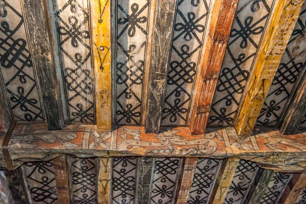 Huntingtower Castle photo, The painted ceiling in the lord's chamber