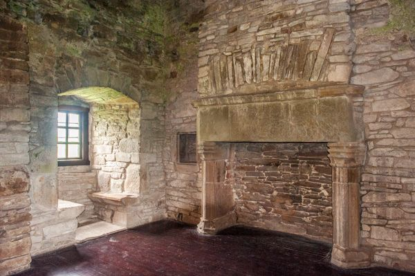 Huntingtower Castle photo, The lord's chamber
