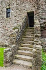 Huntingtower Castle, Stairs to the first floor entrance