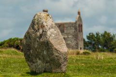 The Hurlers Stone Circles, Solitary stone and old mining house