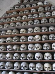 The ossuary in St Leonards church (c) Michael Rowe