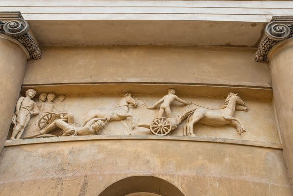 Ickworth photo, A neo-classical entrance frieze