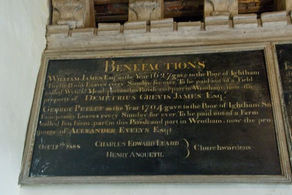 Ightham, St Peter photo, Benefaction board