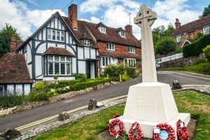 War memorial and village green
