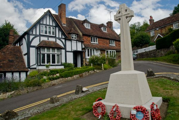 Ightham photo, War memorial and village green