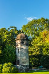 A folly in the grounds of Ilam Hall