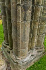 Clustered columns in the priory church
