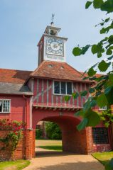 Ingatestone Hall, Another view of the gatehouse and clock