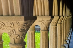 Carved capitals in the cloister