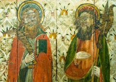 Irstead St Michaels Church, Painted figures of saints on the rood screen