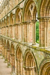Jedburgh Abbey church arcades