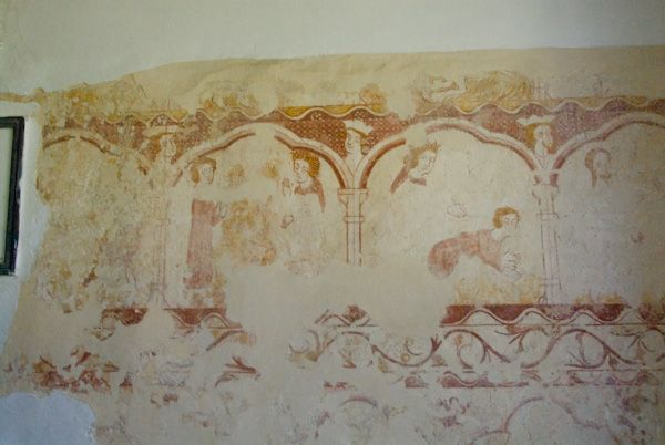 Kelmscott, St George Church photo, Wall Painting