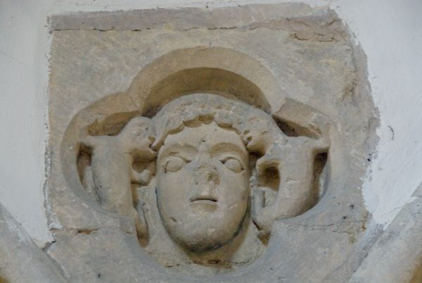Kelmscott, St George Church photo, Carved head