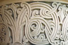 Kelso Abbey, Roxburgh cloister carving