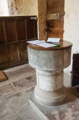 Kempley, St Mary, The plain Norman font