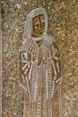 Kempsford, St Mary's Church, Medieval memorial brass