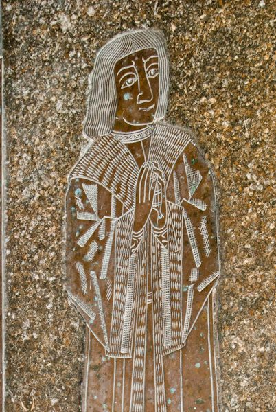 Kempsford, St Mary's Church photo, Medieval memorial brass