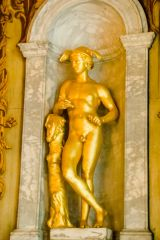 A gilded statue in the state rooms