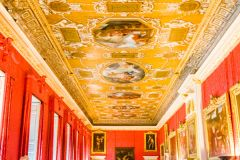 Gilded ceiling in the state apartments
