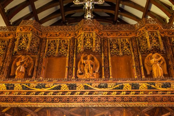 Kenton, All Saints Church photo, The ornate top to the 15th century screen