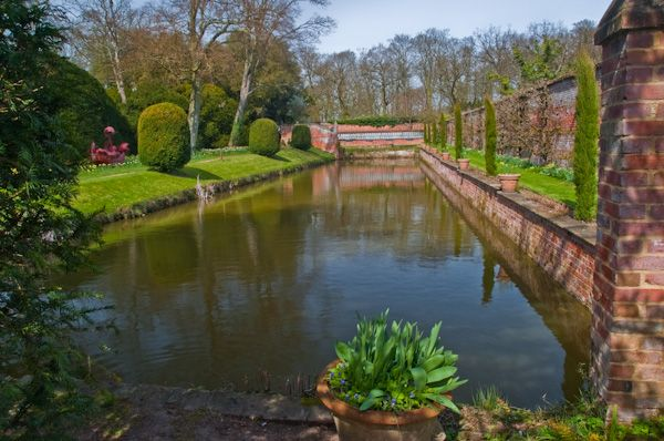 Kentwell Hall photo, The moat at Kentwell