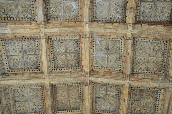 Kersey, St Mary's Church photo, Porch ceiling