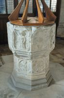 Kersey, St Mary's Church, 15th century font