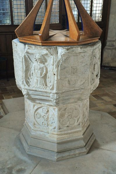 Kersey, St Mary's Church photo, 15th century font