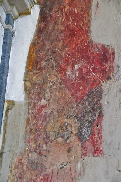 Kersey, St Mary's Church photo, Medieval wall painting